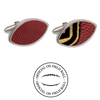 Wyoming Cowboys Authentic On Field NCAA Football Game Ball Cufflinks