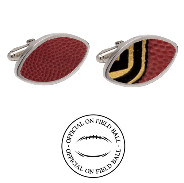 West Virginia Mountaineers Authentic On Field NCAA Football Game Ball Cufflinks