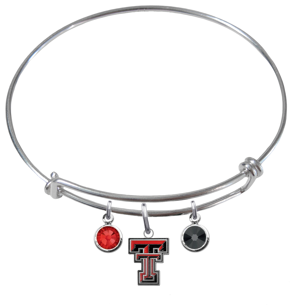 Texas Tech Red Raiders NCAA Expandable Wire Bangle Charm Bracelet