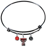 Texas Tech Red Raiders BLACK Expandable Wire Bangle Charm Bracelet