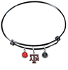 Texas A&M Aggies BLACK Expandable Wire Bangle Charm Bracelet