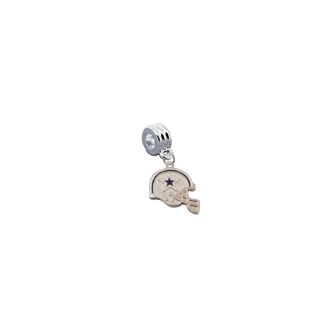 Dallas Cowboys Helmet NFL Football Universal European Bracelet Charm (Pandora Compatible)