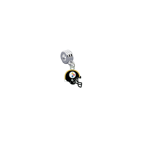 Pittsburgh Steelers Helmet NFL Football Universal European Bracelet Charm (Pandora Compatible)