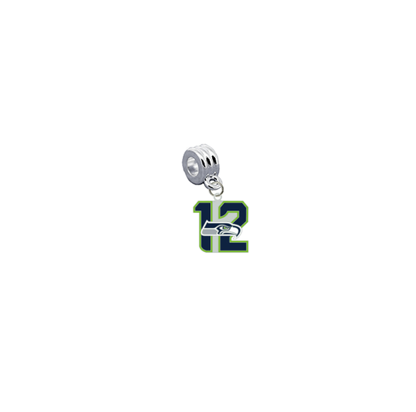Seattle Seahawks 12th Man NFL Football Universal European Bracelet Charm (Pandora Compatible)