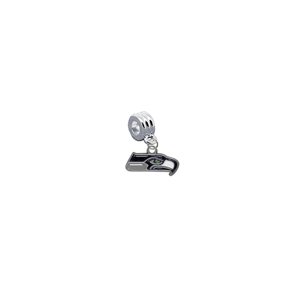 Seattle Seahawks NFL Football Universal European Bracelet Charm (Pandora Compatible)