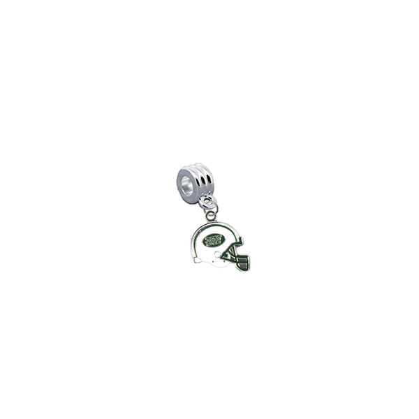 New York Jets Helmet NFL Football Universal European Bracelet Charm (Pandora Compatible)