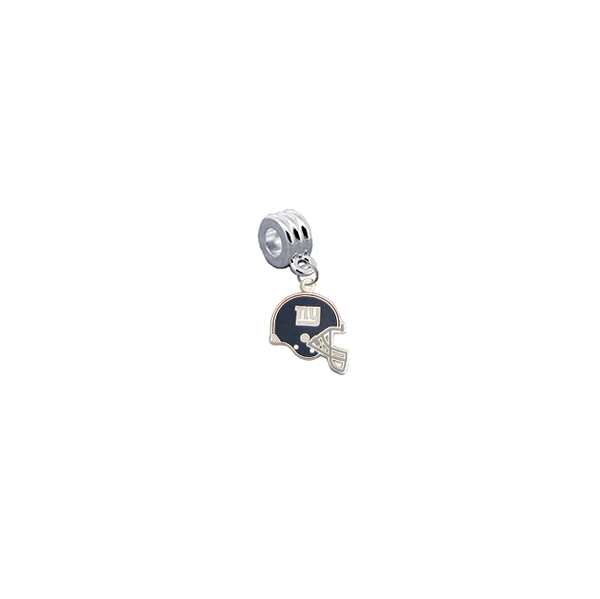 New York Giants Helmet NFL Football Universal European Bracelet Charm (Pandora Compatible)