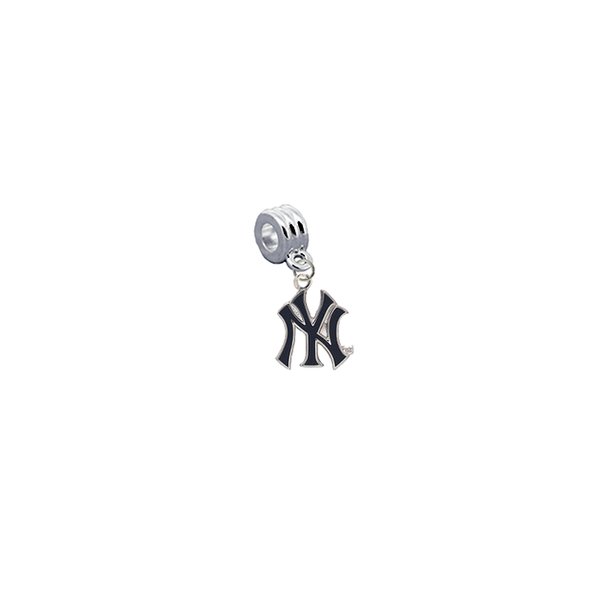 New York Yankees 2 MLB Universal European Bracelet Charm (Pandora Compatible)