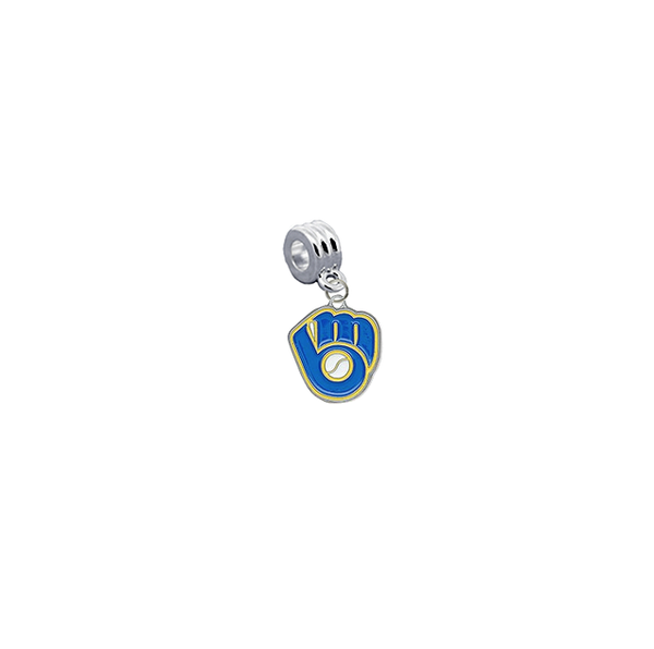 Milwaukee Brewers 2 MLB Universal European Bracelet Charm (Pandora Compatible)