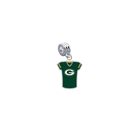 Green Bay Packers Game Day Jersey Universal European Bracelet Charm (Pandora Compatible)