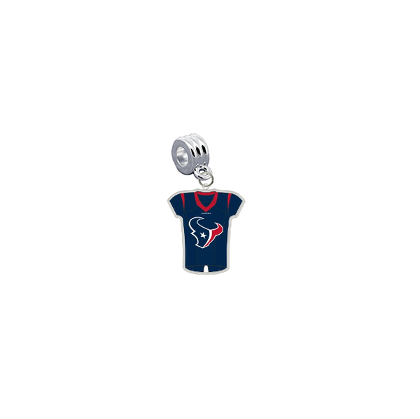Houston Texans Game Day Jersey Universal European Bracelet Charm (Pandora Compatible)