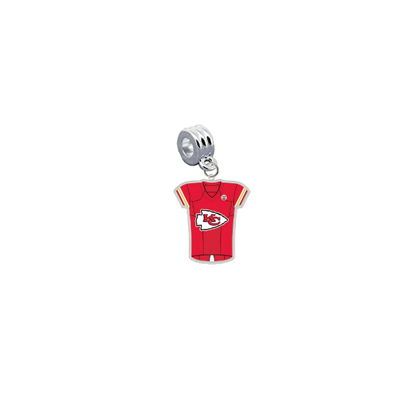 Kansas City Chiefs Game Day Jersey Universal European Bracelet Charm (Pandora Compatible)