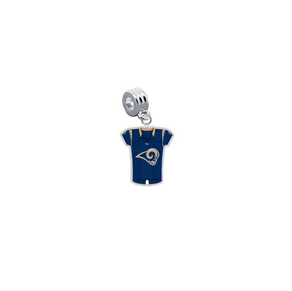 Los Angeles Rams Game Day Jersey Universal European Bracelet Charm (Pandora Compatible)