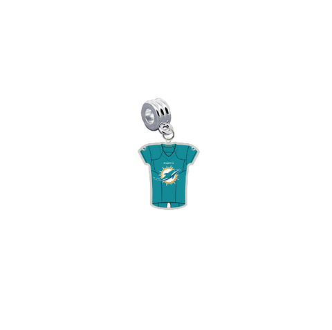Miami Dolphins Game Day Jersey Universal European Bracelet Charm (Pandora Compatible)