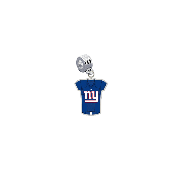 New York Giants Game Day Jersey Universal European Bracelet Charm (Pandora Compatible)