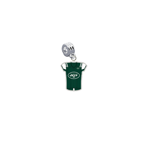 New York Jets Game Day Jersey Universal European Bracelet Charm (Pandora Compatible)