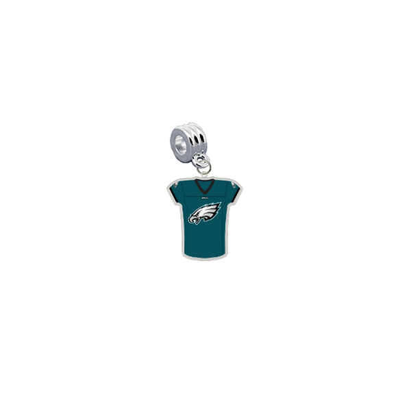 Philadelphia Eagles Game Day Jersey Universal European Bracelet Charm (Pandora Compatible)