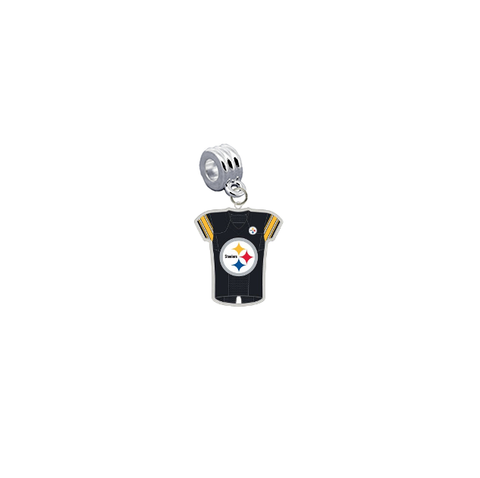 Pittsburgh Steelers Game Day Jersey Universal European Bracelet Charm (Pandora Compatible)