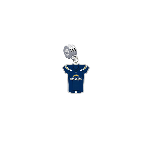 Los Angeles Chargers Game Day Jersey Universal European Bracelet Charm (Pandora Compatible)