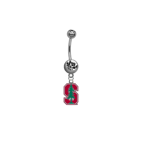 Stanford Cardinal NCAA College Belly Button Navel Ring