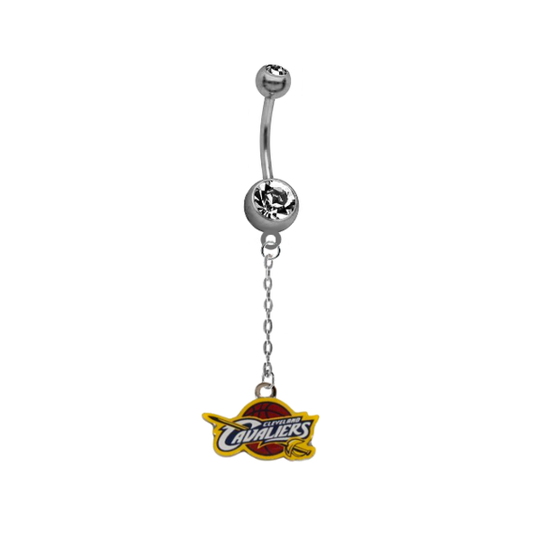 Cleveland Cavaliers Chain NBA Basketball Belly Button Navel Ring