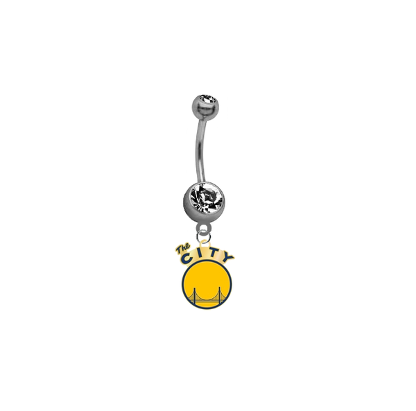 Golden State Warriors Style 2 NBA Basketball Belly Button Navel Ring
