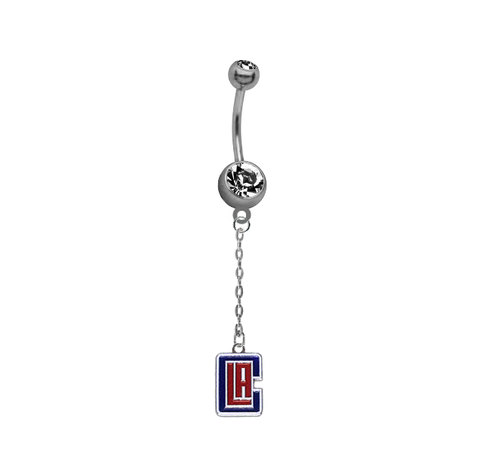 Los Angeles Clippers Chain NBA Basketball Belly Button Navel Ring