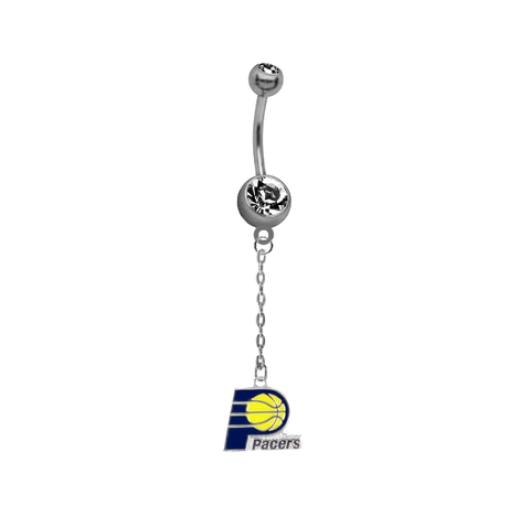 Indiana Pacers Chain NBA Basketball Belly Button Navel Ring