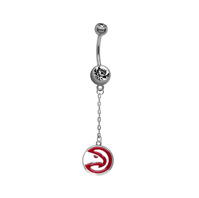 Atlanta Hawks Chain NBA Basketball Belly Button Navel Ring
