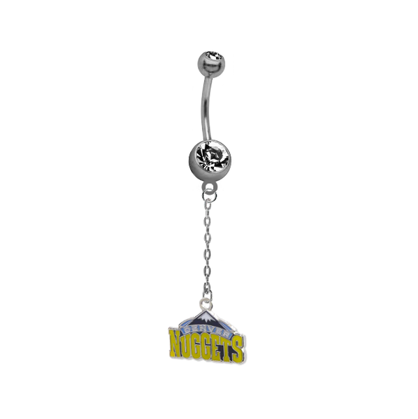 Denver Nuggets Chain NBA Basketball Belly Button Navel Ring