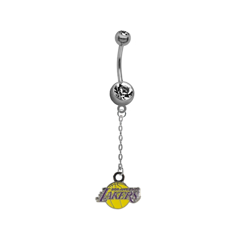 Los Angeles Lakers Chain NBA Basketball Belly Button Navel Ring