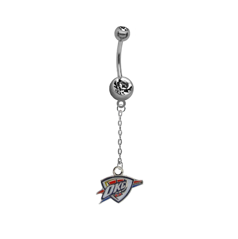 Oklahoma City Thunder Chain NBA Basketball Belly Button Navel Ring