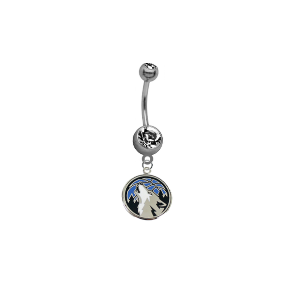 Minnesota Timberwolves NBA Basketball Belly Button Navel Ring