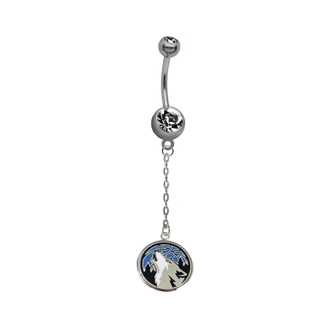 Minnesota Timberwolves Chain NBA Basketball Belly Button Navel Ring