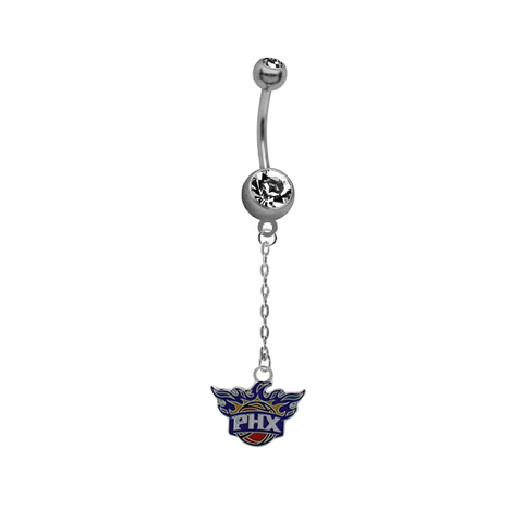 Phoenix Suns Chain NBA Basketball Belly Button Navel Ring