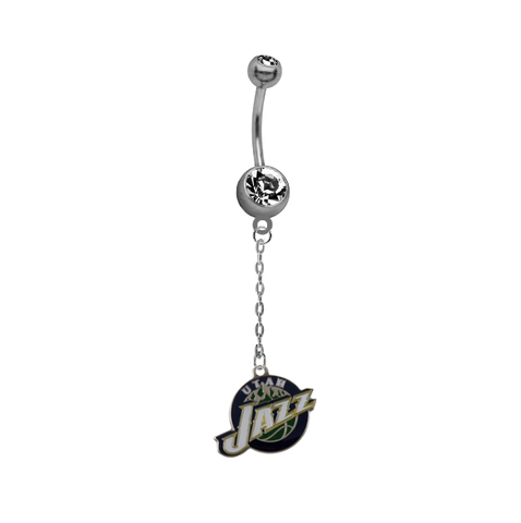 Utah Jazz Chain NBA Basketball Belly Button Navel Ring