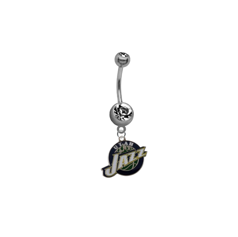 Utah Jazz NBA Basketball Belly Button Navel Ring