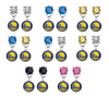 Golden State Warriors NBA Swarovski Crystal Stud Rhinestone Earrings