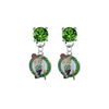 Boston Celtics GREEN Swarovski Crystal Stud Rhinestone Earrings