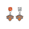 New York Knicks ORANGE & CLEAR Swarovski Crystal Stud Rhinestone Earrings