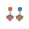 New York Knicks ORANGE & BLUE Swarovski Crystal Stud Rhinestone Earrings