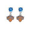 New York Knicks BLUE Swarovski Crystal Stud Rhinestone Earrings