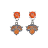 New York Knicks ORANGE Swarovski Crystal Stud Rhinestone Earrings