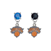 New York Knicks BLUE & BLACK Swarovski Crystal Stud Rhinestone Earrings