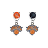 New York Knicks ORANGE & BLACK Swarovski Crystal Stud Rhinestone Earrings