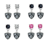 Brooklyn Nets NBA Swarovski Crystal Stud Rhinestone Earrings