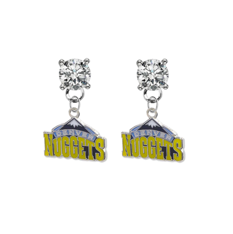Denver Nuggets NBA Swarovski Crystal Stud Rhinestone Earrings
