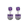 Sacramento Kings PURPLE Swarovski Crystal Stud Rhinestone Earrings