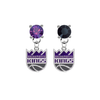 Sacramento Kings PURPLE & BLACK Swarovski Crystal Stud Rhinestone Earrings
