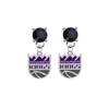 Sacramento Kings BLACK Swarovski Crystal Stud Rhinestone Earrings